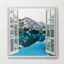 Lake Scenic Landscape | OPEN WINDOW ART Metal Print