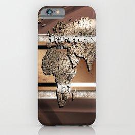 World map paint design art illustration iPhone Case