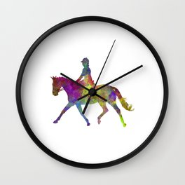 Horse show 05 in watercolor Wall Clock