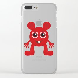 Red Smiley Man Clear iPhone Case