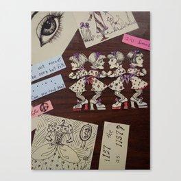 Dancing Paper Dolls Canvas Print