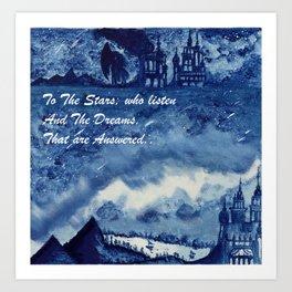 Velaris Sky Art Print