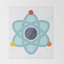 Atom Icon Throw Blanket