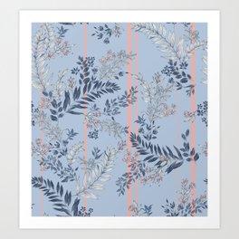 Pastel Tropical Art Print
