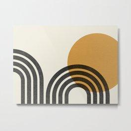Mid century modern - Sun & Hills Metal Print