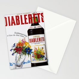 Advertisement bitter diablerets diablement bon et Stationery Cards