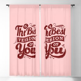 Coral Be You Vintage Lettering Art Blackout Curtain