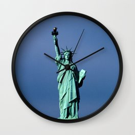 Statue Of Liberty Shines Her Spirit Wall Clock