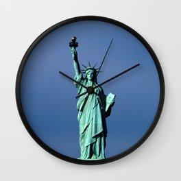 Statue Of Liberty Shines Her Spirit Wall Clock
