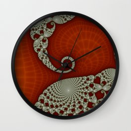 Cresting Lace Wave Wall Clock