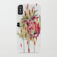 jackalope iPhone & iPod Cases featuring Jackalope by Manfish Inc.
