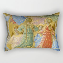 """Fra Angelico (Guido di Pietro) """"The Dormition and Assumption of the Virgin"""" (6) Rectangular Pillow"""