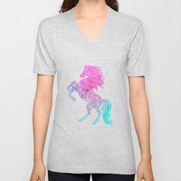 Wild Horse Mandala Horses Dreamcatcher Unisex V-Neck