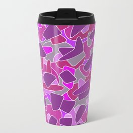 purple shapes Metal Travel Mug