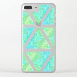 Ziggy Pattern Clear iPhone Case