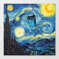 starry night Canvas Prints featuring STARRY by MiliarderBrown