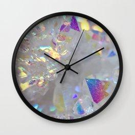 Angel aura opal iridescent quartz holographic new age opal druse geode agate faux druzy photograph Wall Clock