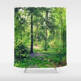 Forest Lavender Flowers Shower Curtain