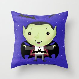 Little Drac! Throw Pillow