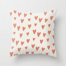 Hearts Hearts Hearts Throw Pillow