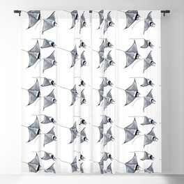 Manta ray devil fish Blackout Curtain