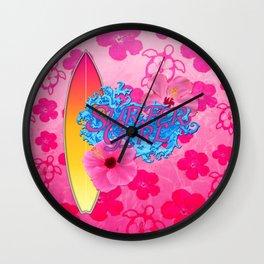 Surfer Girl Wall Clock