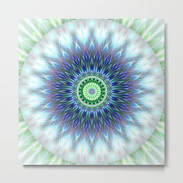 Light Mandala Metal Print