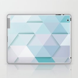 Pale Mint Blue Triangles Laptop & iPad Skin