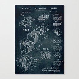 1958 Toy Building Brick patent art Canvas Print