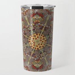 Pizza Cat Mandala Travel Mug