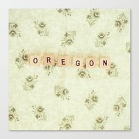 oregon Canvas Prints featuring Oregon by samantha lawson