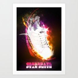Celebrate Adidas Stan Smith Art Print