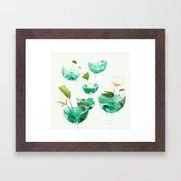 the hovering ponds. Framed Art Print