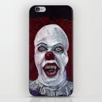 pennywise iPhone & iPod Skins featuring Pennywise by Eric Dockery