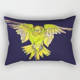 Flying Australian Budgie Bird Parakeet Rectangular Pillow