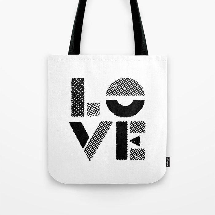 LOVE black-white contemporary minimalist vintage typography poster ...