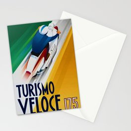 Vintage Turismo Veloce 175 - Lambretta TV175 Advertisement Poster Stationery Cards