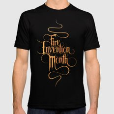 Fire Invention Month MEDIUM Mens Fitted Tee Black