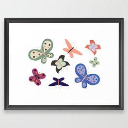 Beautiful Butterflies Framed Art Print