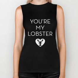 You're My Lobster - Rose Biker Tank