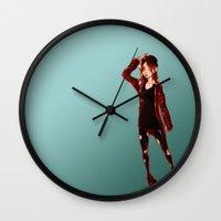 selfie Wall Clocks featuring Selfie by Lenore2411