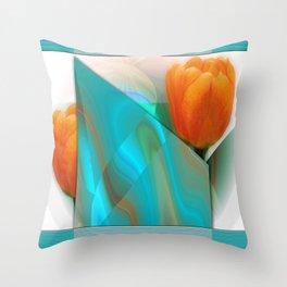 Tulip Sunrise Throw Pillow
