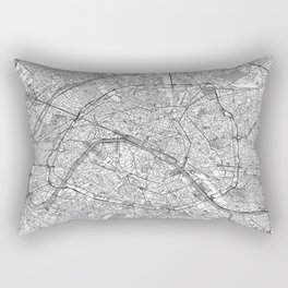 Paris Map Line Rectangular Pillow
