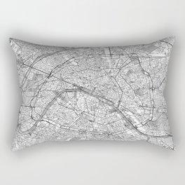 Paris Map Line Rectangular Pillow