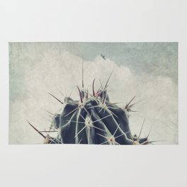 Cactus with textured background Rug