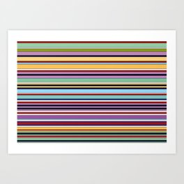 Colorful Symphony of Summer Art Print