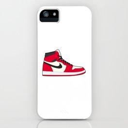 Jordan 1 White Red iPhone Case