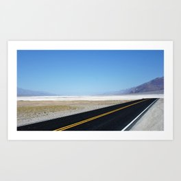 Lonely Road in Death Valley, CA Art Print