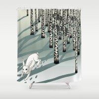 run Shower Curtains featuring Run! by Beesants