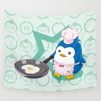 chef Wall Tapestries featuring N°2 - Chef by Yue Graphic Design